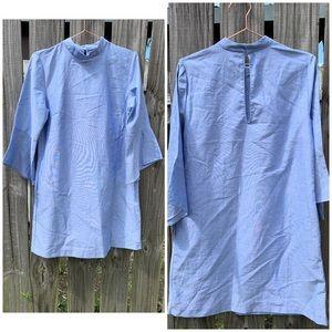 Zara Basic Cotton Chambray Shirt Dress - M